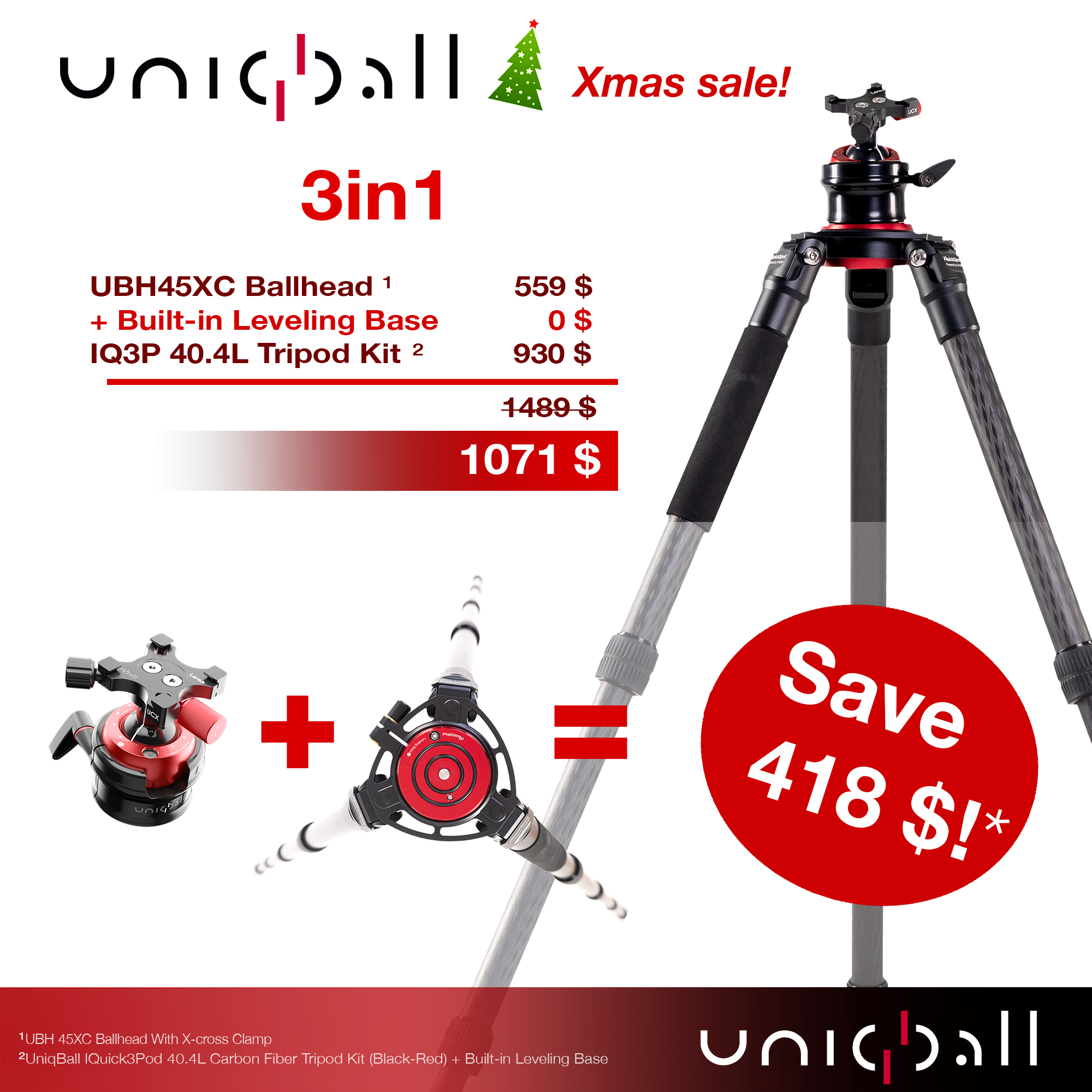 UniqBall UBH 45XC &  IQ3P 40.4L Holiday Promo
