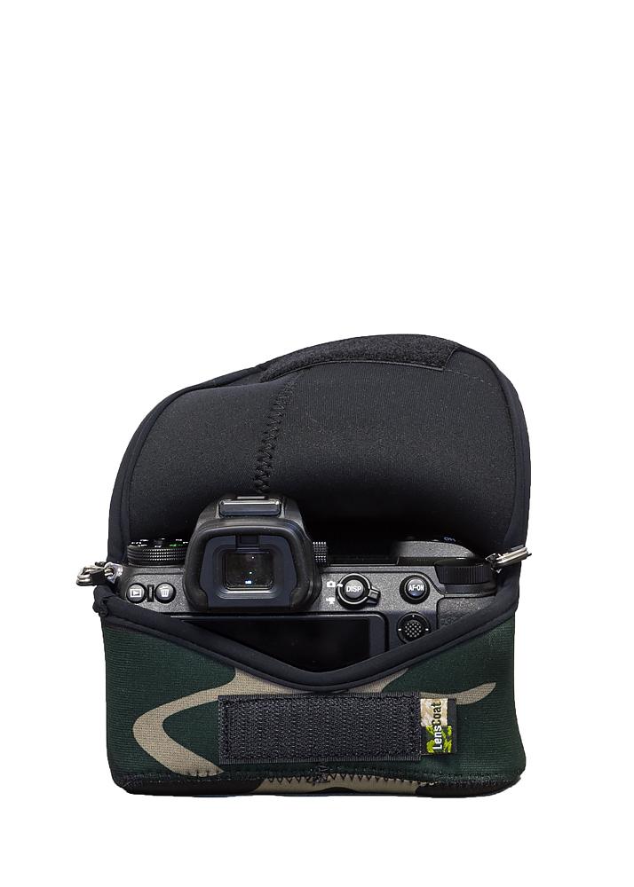 Camouflage Neoprene Camera Lens Protection Sleeve LensCoat Camera Cover Nikon 105mm F1.4E Realtree Max4 lenscoat