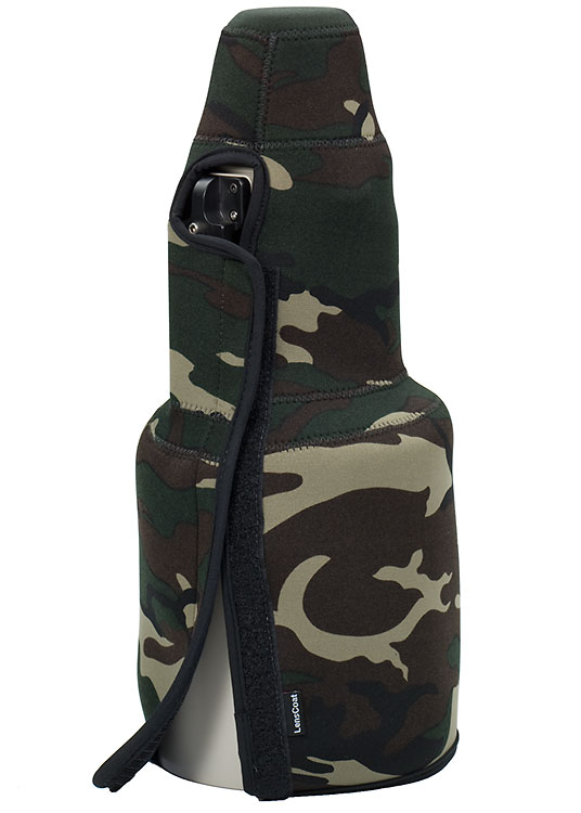 TravelCoat® Canon 500 f/4 IS w/hood Forest Green Camo